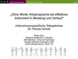 Studie Dr. Thomas Grindel unterstützt Mirjam Holm Research Assistant/Ph. D. Student